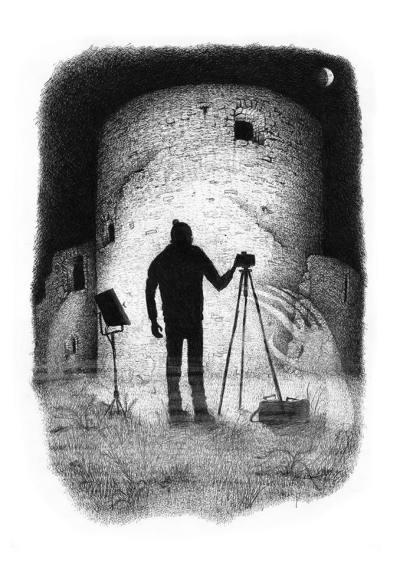 Barney Bodoano+Artist+The Commission+Sussex Horrors+Supernatural+Ghosts+Spirits+Shadow Fabric Mythos+Rye+Camber Castle